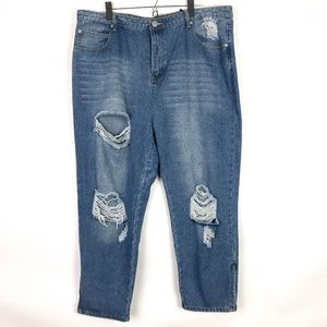 Boohoo Isla Heavy Rip Zip Detail Skinny Jeans NEW